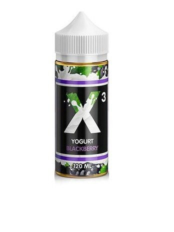 X3 YOGURT BLACKBERRY 120ml
